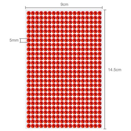 Selbstklebende Strasssteine in rot 5mm