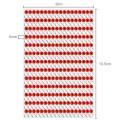 Strasssteine zum Aufkleben in silber und rot 5mm