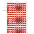 Selbstklebende Strasssteine quadratisch & rund Glitzersteine rot für Bordüren Wandtattoo