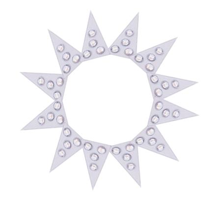Strasssticker selbstklebende Strasssteine Dreiecke SS6 in silber