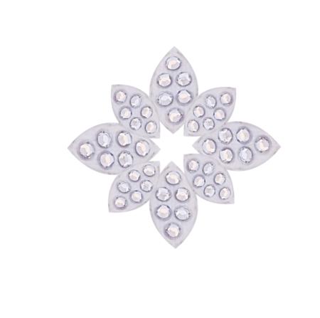 Strasssticker selbstklebende Strasssteine Blütenblätter SS4 in silber